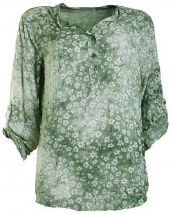 Bluse MINA Viskose green