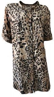 Kleid CORA Baumwolle beige