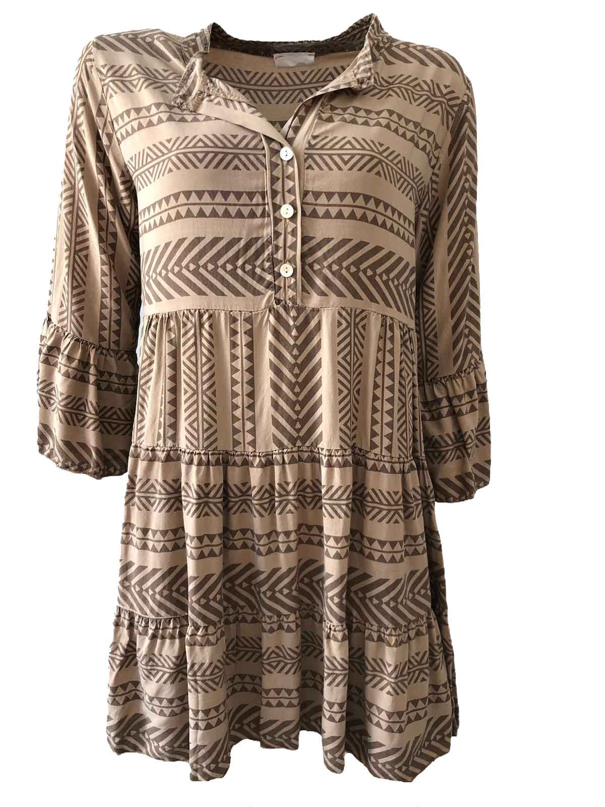 Kleid AVA Viskose camel