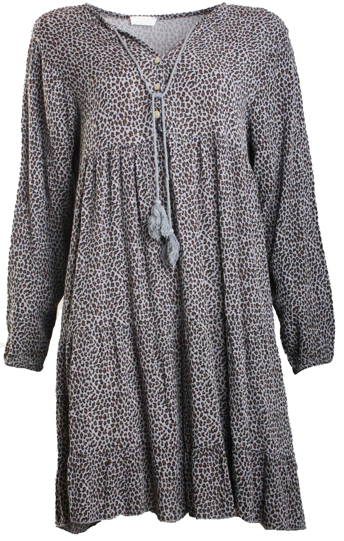 Kleid BELA Viskose grey