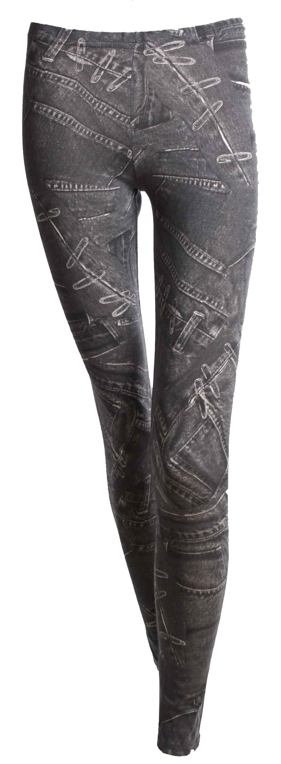 Legging JEANS Grey1